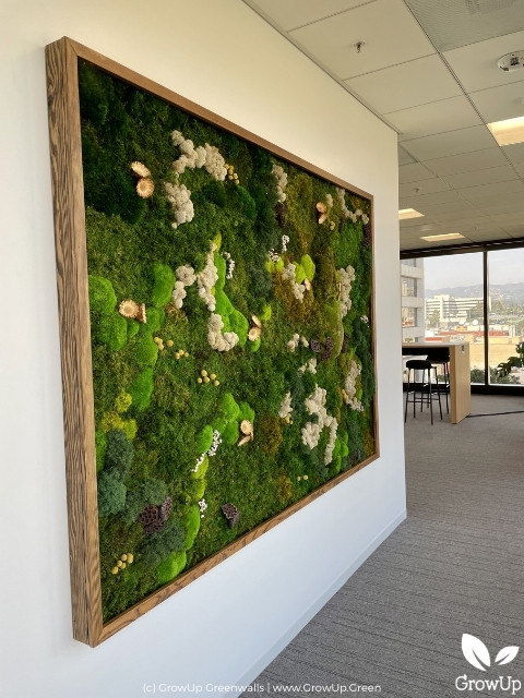 moss wall in large room